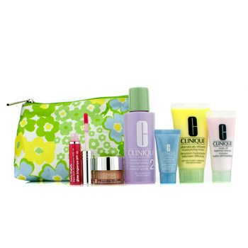 CliniqueTravel Set: Foaming Cleanser + Clarifying Lotion #2 + DDML + Turnaround Concentrate + All About Eyes + Lip Gloss #14 + Bag 6pcs+1bag
