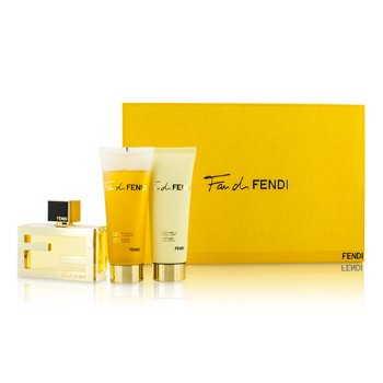 FendiFan Di Fendi Coffret: Eau De Parfum Spray 50ml/1.7oz + Loci�n Corporal 75ml/2.5oz + Gel de Ducha 75ml/2.5oz 3pcs