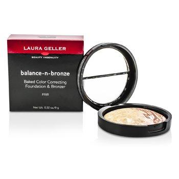 Laura Geller Balance N Bronze Baked Color Correcting Foundation & Bronzer - # Fair 9g/0.32oz
