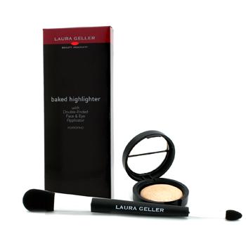 Laura Geller Baked Highlighter With Double Ended Face & Eye Applicator - # Portofino 1.8g/0.06oz