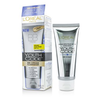 L'OrealYouth Code BB Cream Illuminator SPF 15 - #Light 75ml/2.5oz