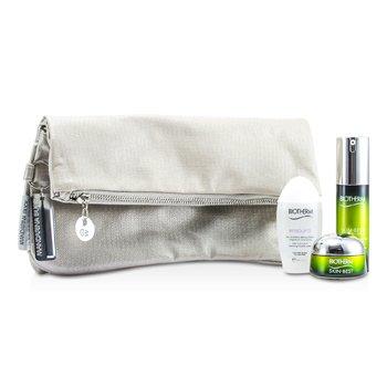 BiothermSkin Best Set: Skin Best Serum In Cream 30ml + Skin Best Cream SPF 15 15ml + Biosource Micellar Water 30ml + Bag 3pcs+1bag