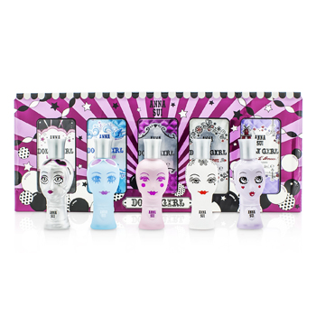 Anna SuiDolly Girl Miniature Coffret: (Dolly Girl, Lil's Starlet, On the Beach, Ooh La Love, Bonjour L'Amour) 5x4ml/0.14oz