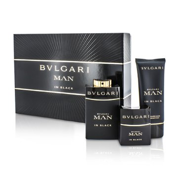 BvlgariIn Black Coffret: Eau De Parfum Spray 100ml/3.4oz + Eau De Parfum Spray 30ml/1oz + After Shave Balm 100ml/3.4oz 3pcs