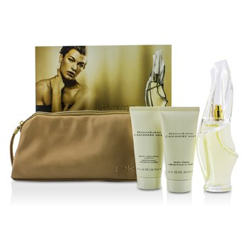 DKNY Cashmere Mist Coffret: Eau De Parfum Spray 100ml/3.4oz + Body Cleansing Lotion 75ml/2.5oz + Body Creme 75ml/2.5oz + Bag  3pcs+bag
