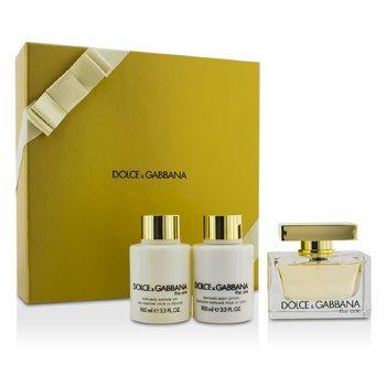 Dolce & Gabbana The One Набор: Парфюмированная Вода Спрей 75мл/2.5унц + Лосьон для Тела 100мл/3.3унц + Гель для Душа 100мл/3.3унц 3pcs