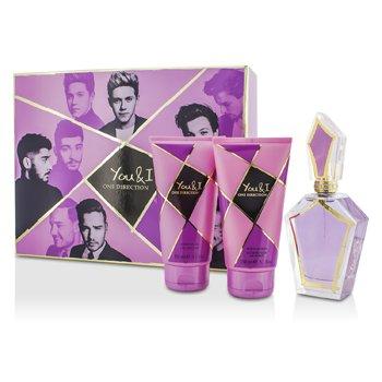 One Direction You & I Coffret: Eau De Parfum Spray 100ml/3.4oz + Body Lotion 150ml/5.1oz + Shower Gel 150ml/5.1oz 3pcs
