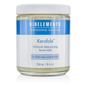 Bioelements Kerafole - 10-Minute Deep Purging Facial Mask (Salon Product, For All Skin Types, Except Sensitive) 236ml/8oz