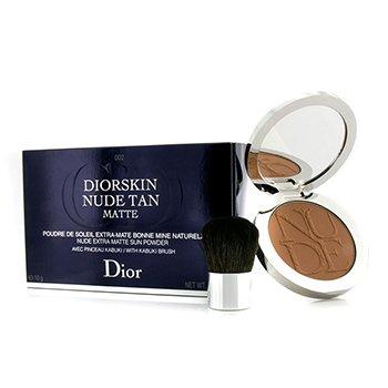 Christian Dior Diorskin Nude Tan Nude Extra Matte Sun Powder (With Kabuki Brush) - # 002 Matte Amber 10g/0.35oz
