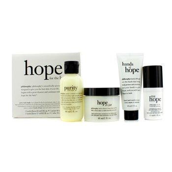 Philosophy Hope for the Best Coffret: Limpiador 60ml/2oz + Hidratante 60ml/2oz + Crema de Ojos 15ml/0.5oz + Crema de Manos30ml/1oz  4pcs