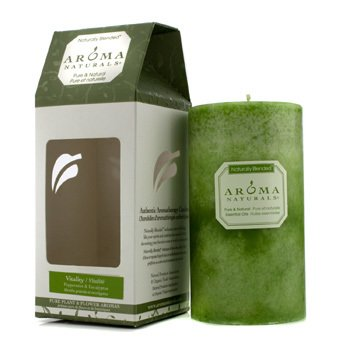 Authentic Aromatherapy Candles - Vitality (Peppermint & Eucalyptus) Aroma Naturals Authentic Aromatherapy Candles - Vitality (Peppermint & Eucalyptus) (2.75x5)