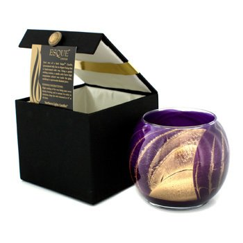 Northern Lights Candles Vela Polida Redonda Esque - Amethyst 4 inch