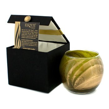 Northern Lights Candles Vela Polida Redonda Esque - Olive 4 inch