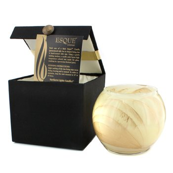 Northern Lights Candles Esque Polished Globe Candle - Ivory 4 inch