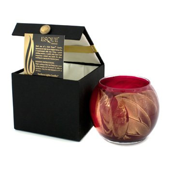 Northern Lights Candles Esque Polished Globe Candle - Cranberry 4 inch