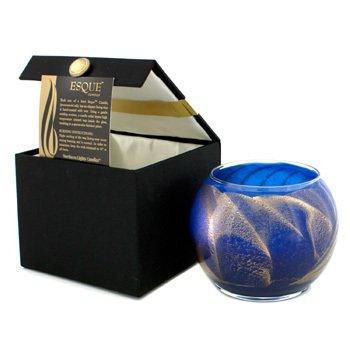 Northern Lights Candles Esque Polished Globe Candle - Cobalt 4 inch