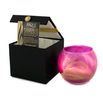 Northern Lights Candles Esque Polished Globe Candle - Bright Fuchsia 4 inch