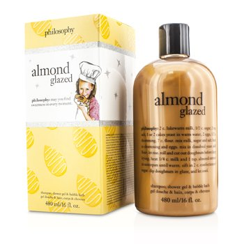 PhilosophyAlmond Glazed Shampoo, Shower Gel & Bubble Bath 480ml/16oz