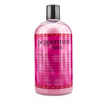 PhilosophyPeppermint Stick Shampoo, Shower Gel & Bubble Bath 480ml/16oz