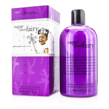 PhilosophySugar Plum Fairy Shampoo, Shower Gel & Bubble Bath 480ml/16oz