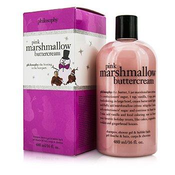 PhilosophyPink Marshmallow Buttercream Shampoo, Shower Gel & Bubble Bath 480ml/16oz