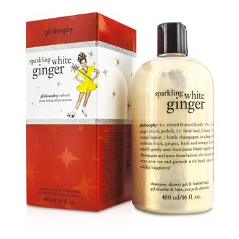PhilosophySparkling White Ginger Shampoo, Shower Gel & Bubble Bath 480ml/16oz