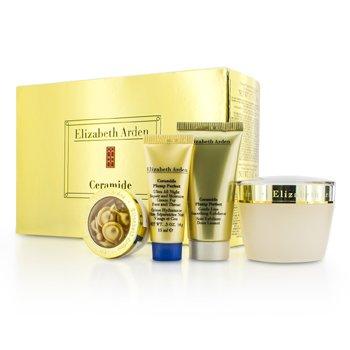 Elizabeth ArdenSet Ceramide Plump Perfect: Crema Humectante 50ml + Exfoliante 30ml + Crema de Noche 15ml + C�psulas 3.2ml 4pcs