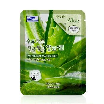 3W Clinic Máscara Em Folha - Fresh Aloe 10pcs