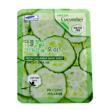 3W Clinic Máscara Em Folha - Fresh Cucumber 10pcs