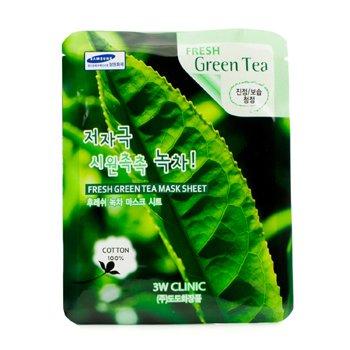 3W Clinic Máscara Em Folha - Fresh Green Tea 10pcs