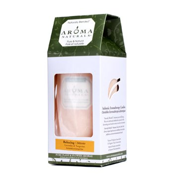 Aroma Naturals Authentic Aromatherapy Candles - Relaxing (Lavender & Tangerine) (2.75x5) inch