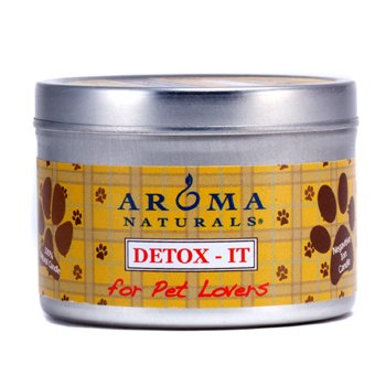 Aroma Naturals Detox-It Allergy & Pet Friendly Candle - For Pet Lovers 2.8oz