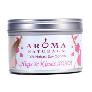 Aroma Naturals 100% Natural Soy Candle - Hugs & Kisses XOXO! 6.5oz