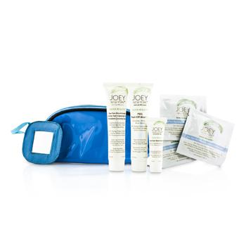 Joey New York Kit para el Cuidado de la Piel Perfecci�n Total: Mascarilla 41.4ml + Limpiadora y Exfoliante 38ml + Adi�s Puntos Negros 10ml + 3x Toallitas Limpiadoras + Bolsa  6pcs+1bag