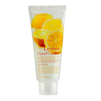 Image of 3W Clinic Hand Cream - Lemon 100ml/3.38oz