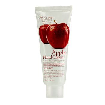 3W ClinicHand Cream - Apple 100ml/3.38oz