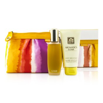 Clinique Aromatics Elixir Coffret: Parfum Spray 45ml/1.5oz + Body Smoother 75ml/2.5oz + Bag 2pcs+1bag