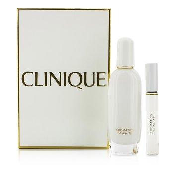 CliniqueAromatics In White Coffret: Eau De Parfum Spray 50ml/1.7oz + Eau De Parfum Roll-On 10ml/0.34oz 2pcs