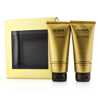 AhavaThe Super Stars Set: Deadsea Water Mineral Hand Cream (Gold Edition) 2pcs