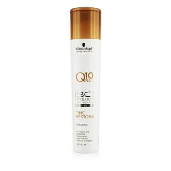 SchwarzkopfBC Time Restore Q10 Plus Shampoo - For Mature and Fragile Hair (New Packaging) 250ml/8.4oz