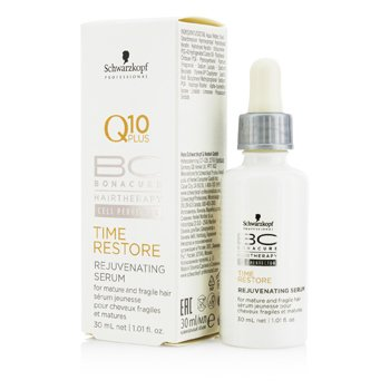 SchwarzkopfBC Time Restore Q10 Plus Rejuvenating Serum (For Mature and Fragile Hair) 30ml/1.01oz