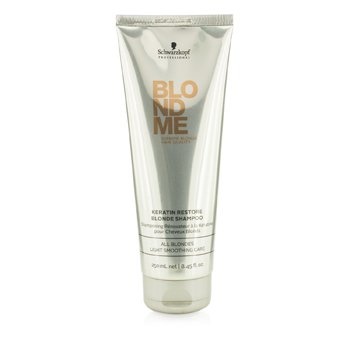 SchwarzkopfBlondme Keratin Restore Blonde Shampoo (All Blondes Light Smoothing Care) 250ml/8.45oz