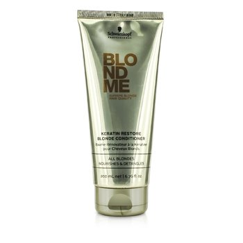 SchwarzkopfBlondme Keratin Restore Blonde Conditioner (All Blondes Light Smoothing Care) 200ml/6.76oz