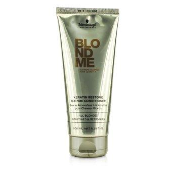 SchwarzkopfBlondme Keratin Restore Blonde Conditioner (All Blondes Light Smoothing Care) 200ml/6.76oz