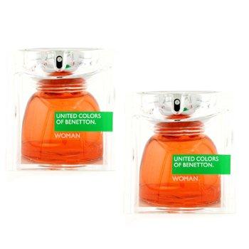 Benetton Eau De Toilette Spray Duo Pack 2x40ml/1.3oz