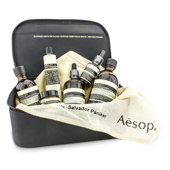 AesopTheory Of Evolution: Aceite Limpiador 200ml + T�nico 100ml + Suero 100ml + Crema para Ojos 10ml + Mascarilla 60ml + Tratamiento 25ml + Bolsa 6pcs+1bag