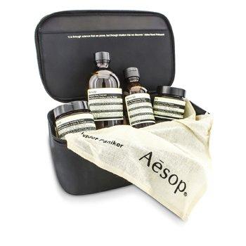 AesopCelestial Mechanics Set: Fabulous Cleanser 200ml + B & Tea Toner 100ml + Camellia Nut Cream 60ml + Primrose Masque 60ml + Bag 4pcs+1bag