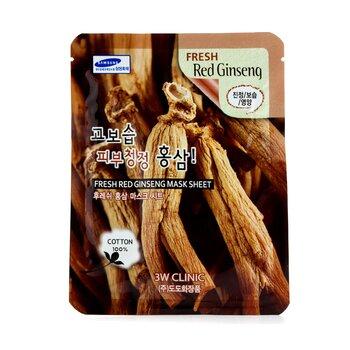 Image of 3W Clinic Mask Sheet - Fresh Red Ginseng 10pcs