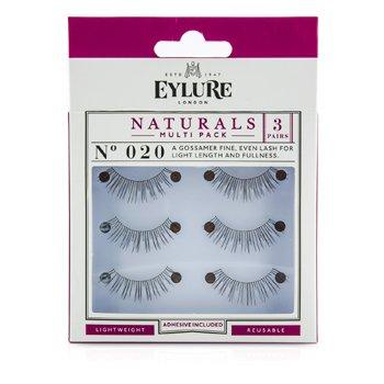 21926aabcff 5011522062648. Eylure Naturalites False Lashes Multipack - 020 Natural  Black (Adhesive ...