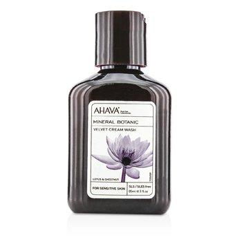AhavaMineral Botanic Velvet Cream Wash - Lotus Flower & Chestnut (Sensitive Skin) 85ml/3oz